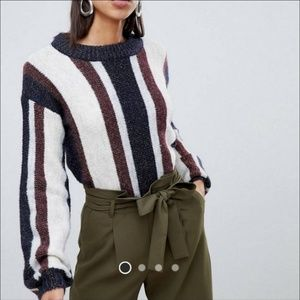 ASOS Vero Moda Striped Knitted Sweater